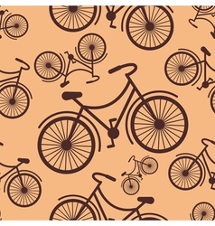 Pattern of retro hipster styled bycicle on a coffe vector image vector image