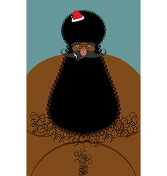 Santa Claus american african naked Naked old vector image vector image