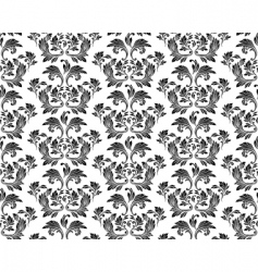 vector seamless floral pattern vector image vector image