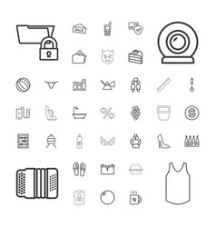 37 isolated icons vector