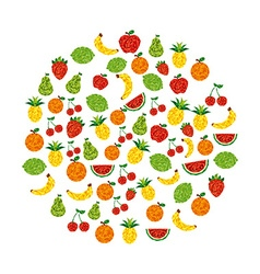 abstract fruit vector image