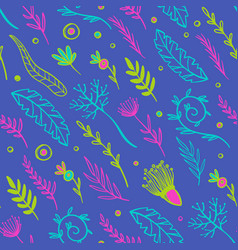 abstract herbs fabric seamless pattern vector image