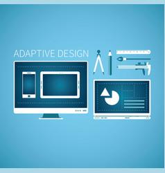 Adaptive web graphic design development concept vector