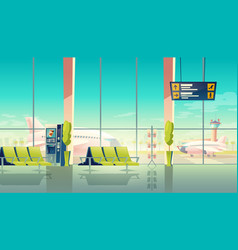 airport hall international terminal vector image