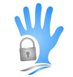 Anti theft symbol vector