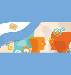 Argentina concept thinking growing innovation vector