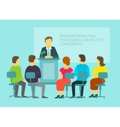 Business or policies message giving speech vector