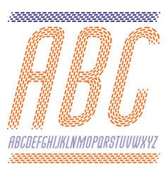 Capital condensed modern alphabet letters abc set vector