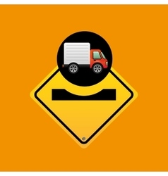 Caution traffic sign concept vector