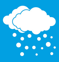 Cloud and snow icon white vector
