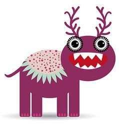 Cute cartoon Monster on a white background vector image