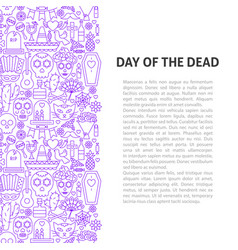 day of the dead line pattern concept vector image