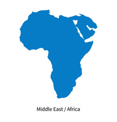 Detailed map middle east and africa vector