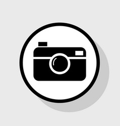 digital photo camera sign flat black icon vector image