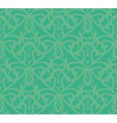 Elaborate bluish-green seamless pattern background vector