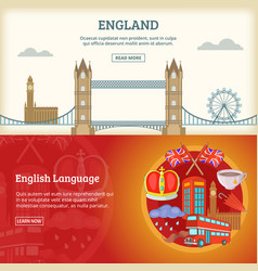 england banner or poster set vector image