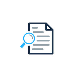 Find document logo icon design vector