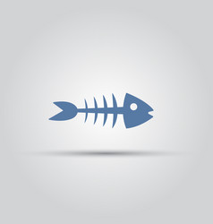 fish bones isolated colored silhouette icon vector image
