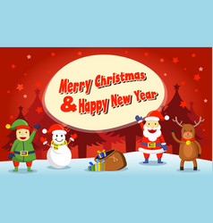 flat for christmas greeting card vector image