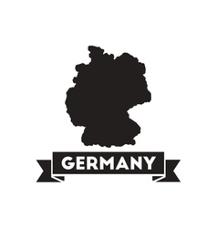 Flat icon in black and white Germany map vector