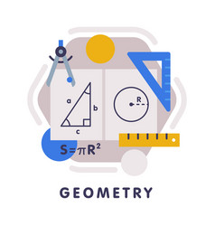 geometry school subject icon education and vector image