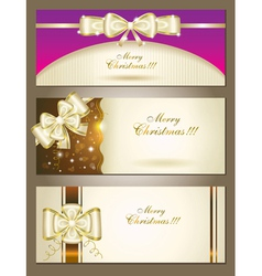 greeting cards with white bows vector image vector image