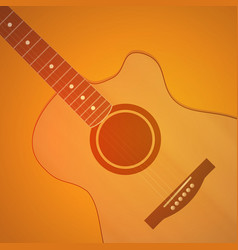 guitar on orange background - neutral vector image