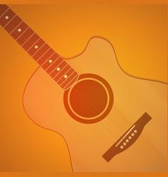 Guitar on orange background - neutral vector