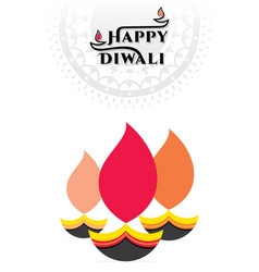 Happy diwali festival light in india vector