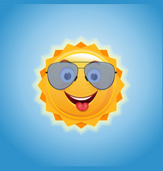 Happy smiling sun in sunglasses vector