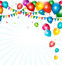 Holiday background with colorful balloons and vector