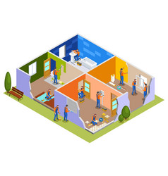Home repair isometric composition vector