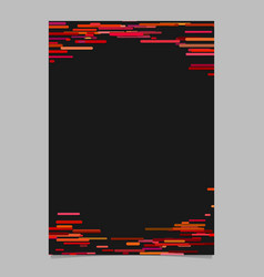 horizontal stripe design background brochure vector image