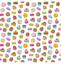 kawaii seamless backgroundon a white background of vector image