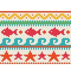 knitted beach pattern vector image vector image