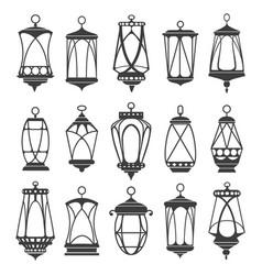 lanterns for ramadan set vector image