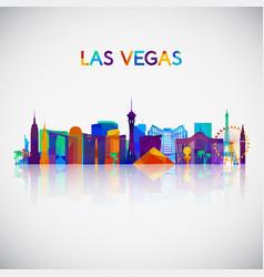 las vegas skyline silhouette vector image