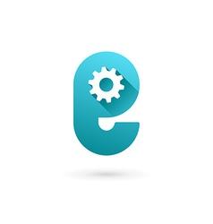 Letter E technology logo icon design template vector