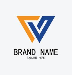 letter w company logo vector image