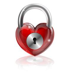 Locked heart concept vector