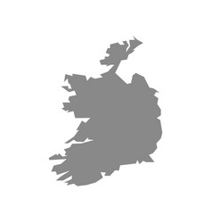 Map-ireland country on white background vector