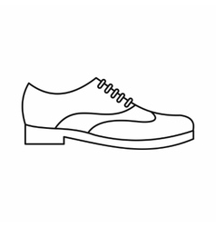 Men shoe with lace icon outline style vector