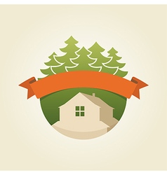 Mountain house 4 vector
