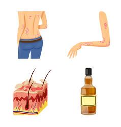 Pain and dermatology logo vector