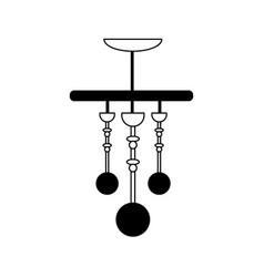 Pendant lamp icon image vector