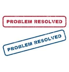 Problem Resolved Rubber Stamps vector image