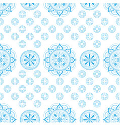 seamless pattern with lace ornament in pastel vector image
