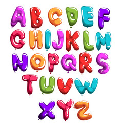 Set colorful font in form balloons children s vector