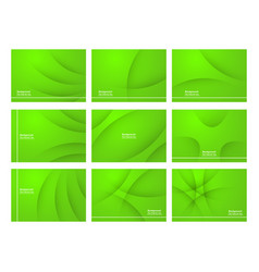 set of green abstract background with copy space vector image
