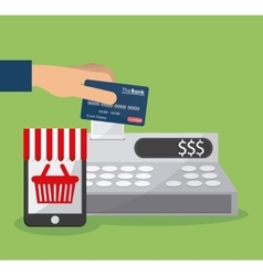 Shopping commerce and market design vector